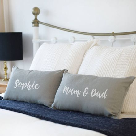 Personalised My Side Your Side Pair Of Cushions